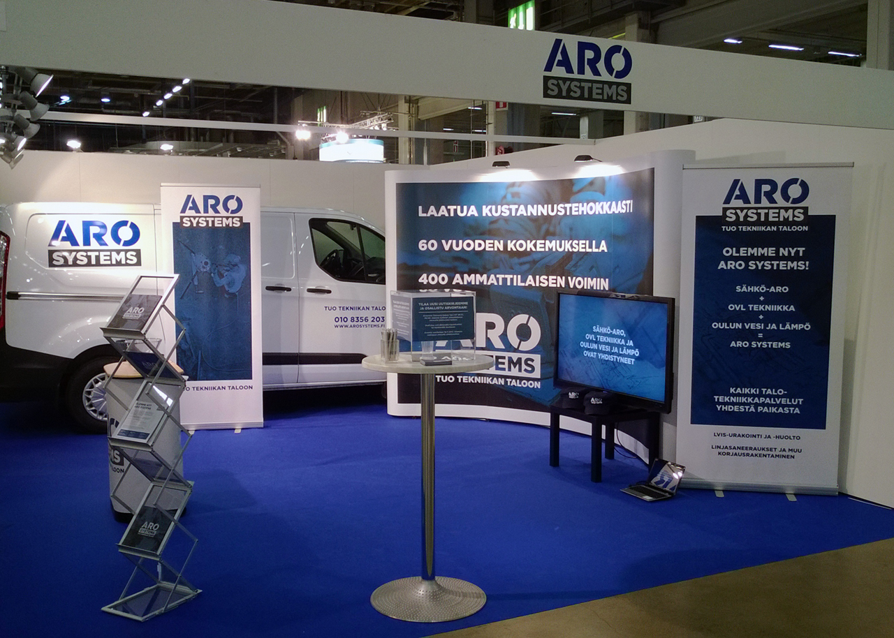 Aro Systems exhibition booth