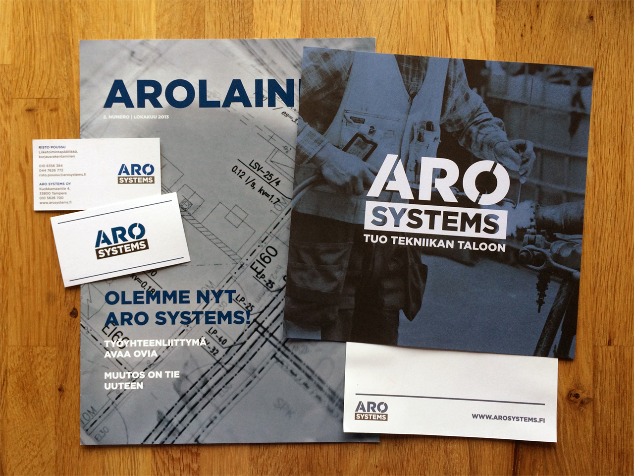Aro Systems stationery 2